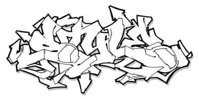 Wild Style Graffiti Alphabet Letters